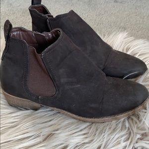 Dark brown ankle booties